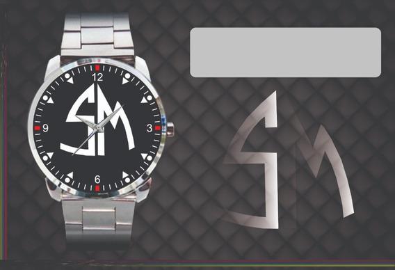 Relógio De Pulso Personalizado Logo Santa Madilte Sm Antigos
