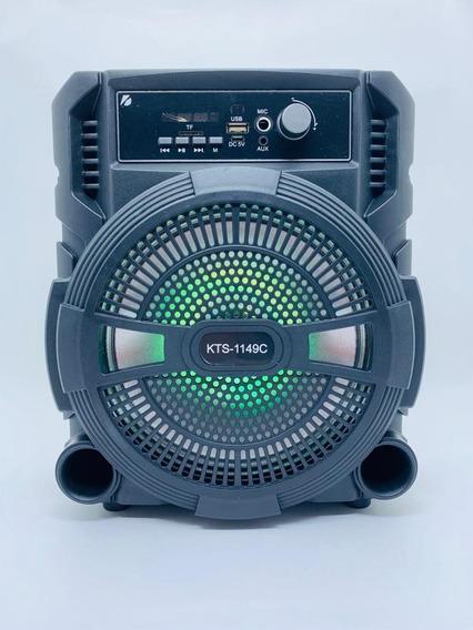 Caixa De Som Bluetooth Sem Fio Amplificada Karaokê