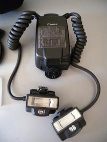 Canon Flash Macro Twin Lite Mt-24ex Pouco Uso+ Case Excelent