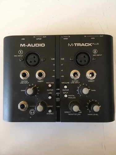 Placa De Audio M-audio M-track Plus Con Pro Tools Express
