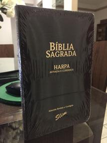 Bíblia Sagrada Slim Com Harpa & Corinhos Almeida