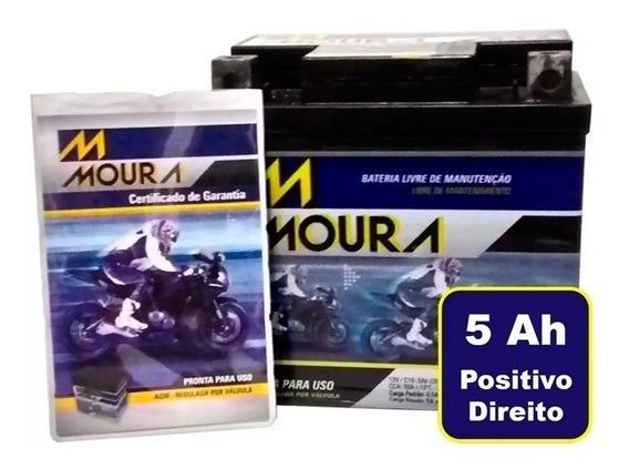 Bateria Moto Moura 5ah Fan Biz Titan Bros Kansas 150 Crf230