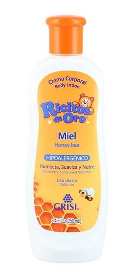 Crema Corporal Ricitos De Oro Miel Grisi 250 Ml