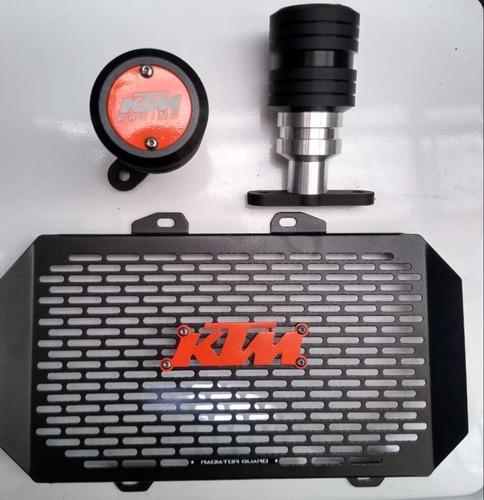 Defensas - Slider + Prot Radiador Ktm Duke 200 Y 390 Antigua