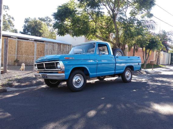 Ford F100 1977 4cc Placa Preta