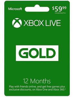 Xbox Live Gold - 12 Meses - Xbox One / Xbox 360