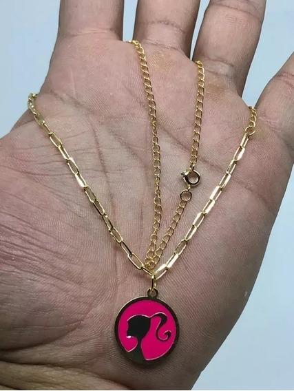 Colar Gargantilha Banhada A Ouro Barbie Mc Ref:913