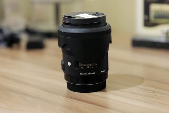 Lente Sigma 35mm 1.4 Canon