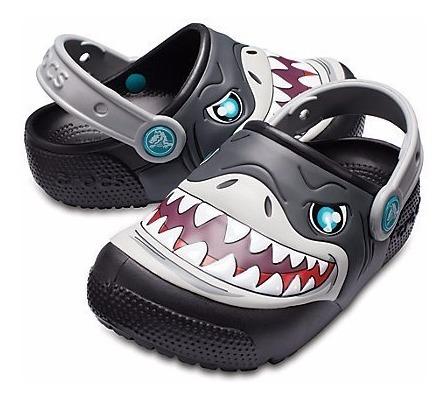 Ojotas Sandalia Crocs Tiburon Luces !-sagat Deportes-205000