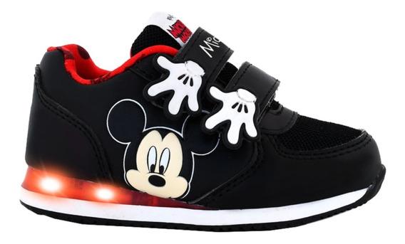 Zapatillas Disney Mickey Mouse Con Luces Footy Boton On/off