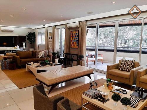 Apartamento Com 3 Dormitórios À Venda, 202 M² Por R$ 3.100.000 - Moema - São Paulo/sp - Ap53497