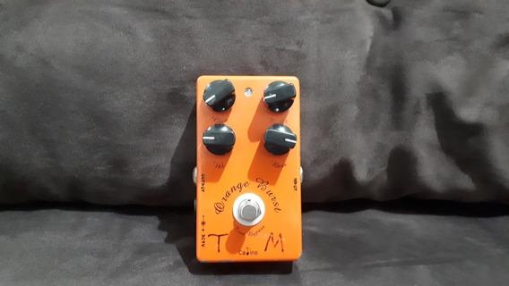 Pedal Overdrive Caline Orange Burst (clone Xotic Bb Pré Amp)