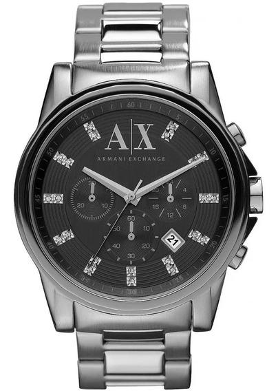 Relógio Armani Masculino Exchange Ax2092/pn Original Barato