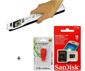 Scanner Portátil De Mão Sunfire Ts2l + Cartão Sandisk 16gb