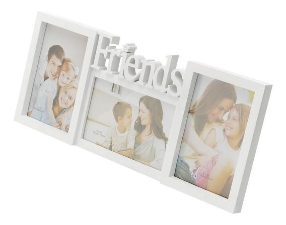 Porta Retrato Em Plástico Para 3 Fotos Friends