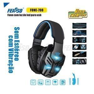 Fone De Ouvido Fone-708 Gamer Com Vibração Feasso