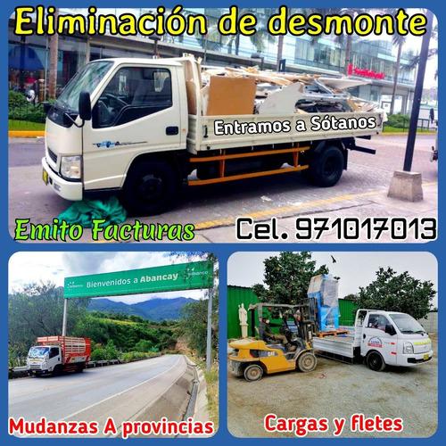 Eliminación Desmonte & Recojo Malezas, Taxi Carga Y Mudanzas