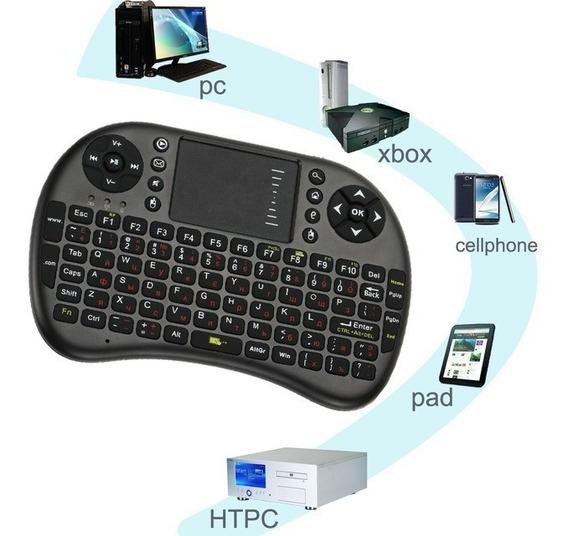 Kit 2 Mini Teclado Smart Tv Pc Celular Ps3/4 Xbox360 Tablet