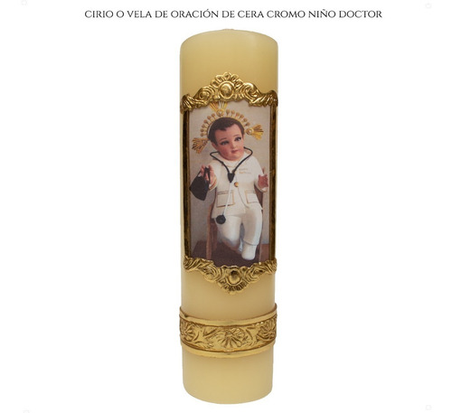 Imagen 1 de 5 de Cirio O Vela De Oración Del Niño Doctor