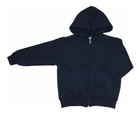 Campera Friza Colegial Azul/gris Talle 10 A 16