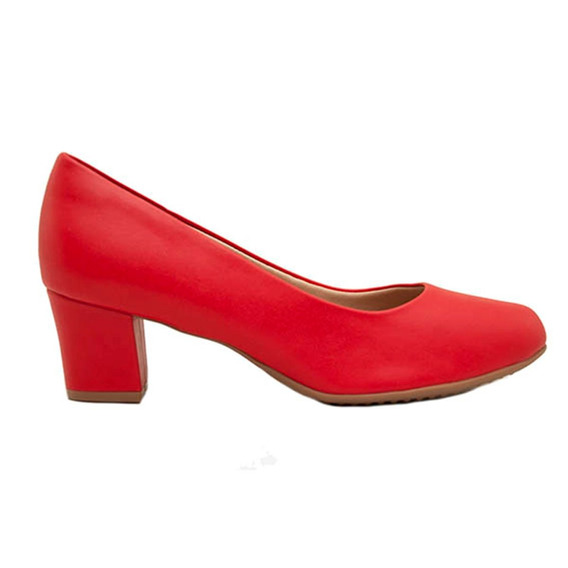 Zapatos Clásicos Mujer Piccadilly Cuero Ecológico Rojo