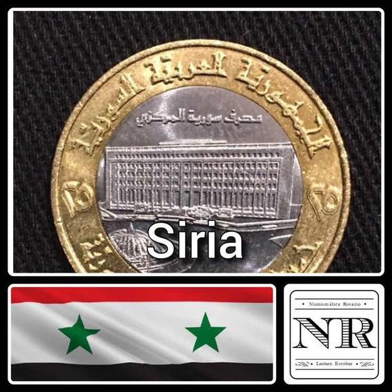 Siria - 25 Libras - 1996 - Bimetalica - Km # 126 - Edificio