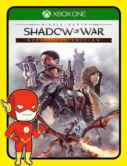 Middle Earth Shadow War Definitive Xbox One - Envio Flash