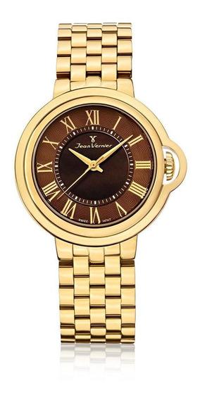 Relógio Pulso Jean Vernier Aço Inoxidável Masculino Jv01148