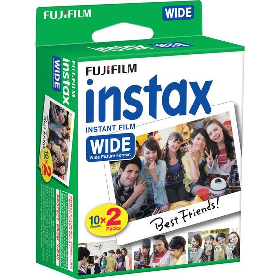 Reembalado Filme Instax Wide Pack Com 20 Fotos Instantaneas