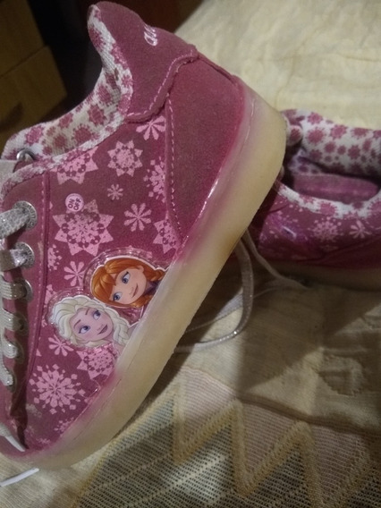 Zapatillas Addnice Frozen Con Luces Led