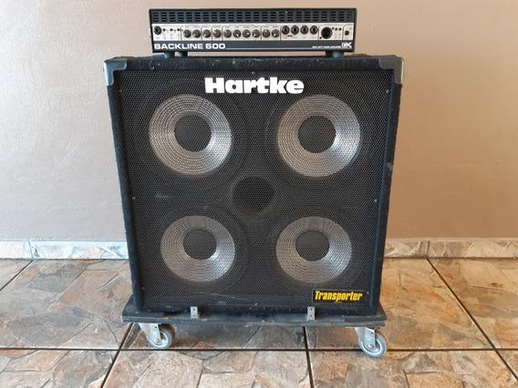 Set Baixo Cabeçote Gk Backline 600 + Caixa Hartke Tp 410
