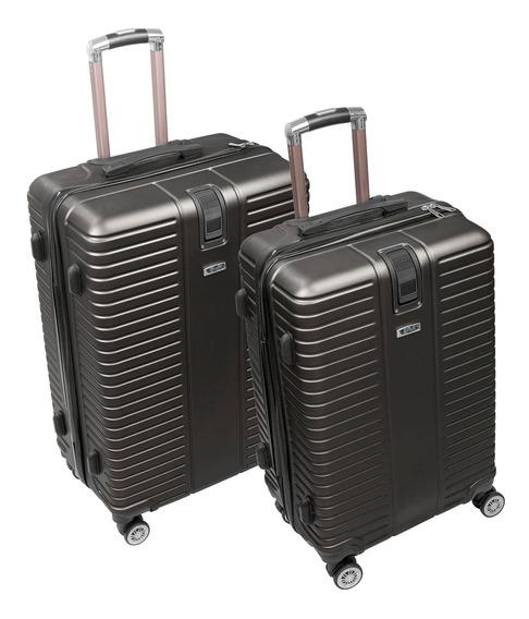 Juego De 2 Maletas De Viaje Vacaciones Moda 24 Y 28 Pulgadas Material Abs