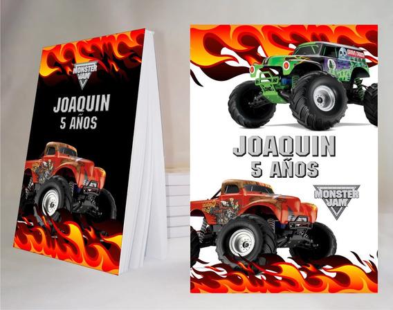 Monster Jam Souvenir Anotador Personalizado X32!l