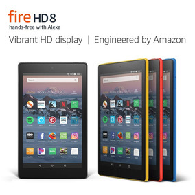 Tablet Amazon Fire Hd 8 Tablet 8 Hd Display, 16 Gb Preto