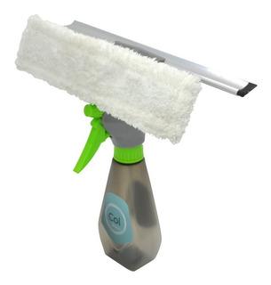 Limpia Vidrios 3 En 1 Col Home Spray Trapeador Secador