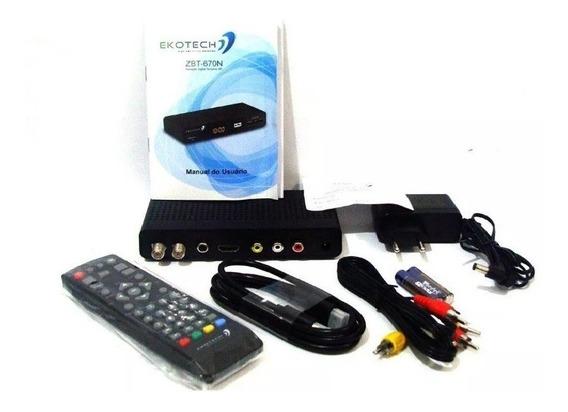 Conversor Tv Digital Hdtv Ekotech Zbt 670n
