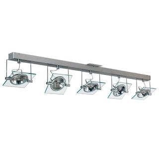 Plafon Moderno 5 Luces Vidrio Lamparas Ar111 Apto Led