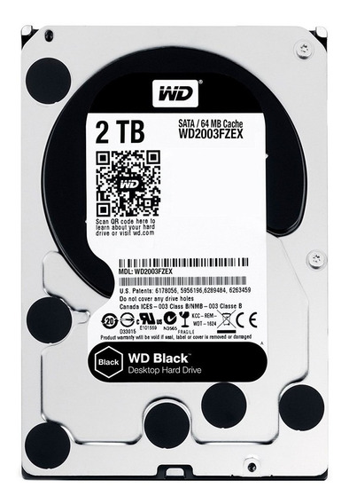 Hd Interno 2tb Western Digital Caviar Black Sataiii 64mb