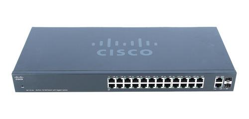 Imagen 1 de 4 de Switch Cisco Sf11224 24 Puertos + 2 Sfp Uplinks Gigabit