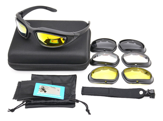 Polarizada Goggles Tático Polarizada Uv400 Dos Óculos C5 4 D
