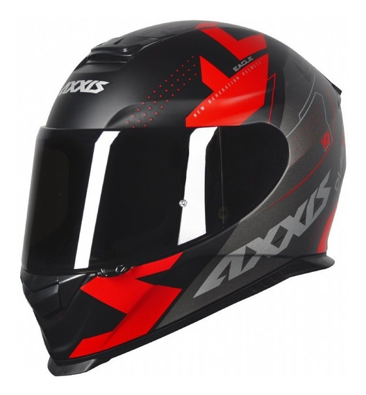 Capacete Moto Axxis Eagle Diagon Fosco + Nf