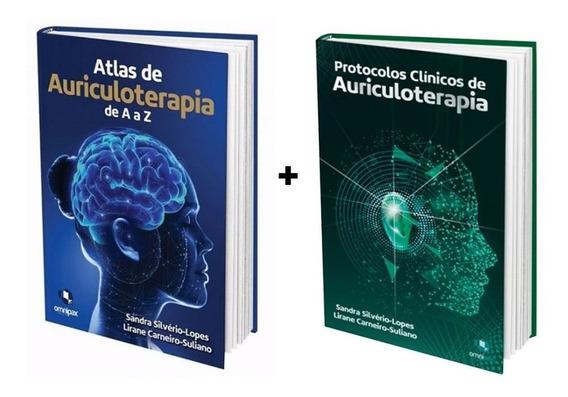 Kit 2 Livros - Atlas E Protocolos De Auriculoterapia