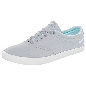 Tenis Nike Satire Canvas Gris Con Blanco Casual Hombre Au1