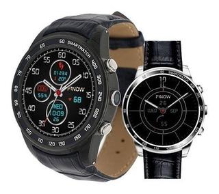 Relógio Prata Smartwatch Finow Q7 Chip E Cartão De Mem