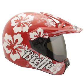 Capacete Bieffe 3 Sport Hawaii Vermelho Branco 60