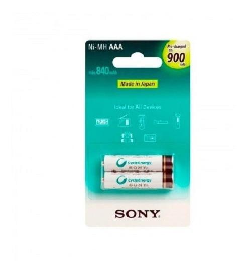 Pilha Aaa Sony Recarregável C/2
