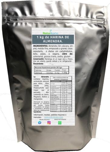 Imagen 1 de 6 de Harina De Almendra Y Harina De Nuez 1 Kilo C/u Molido Fino
