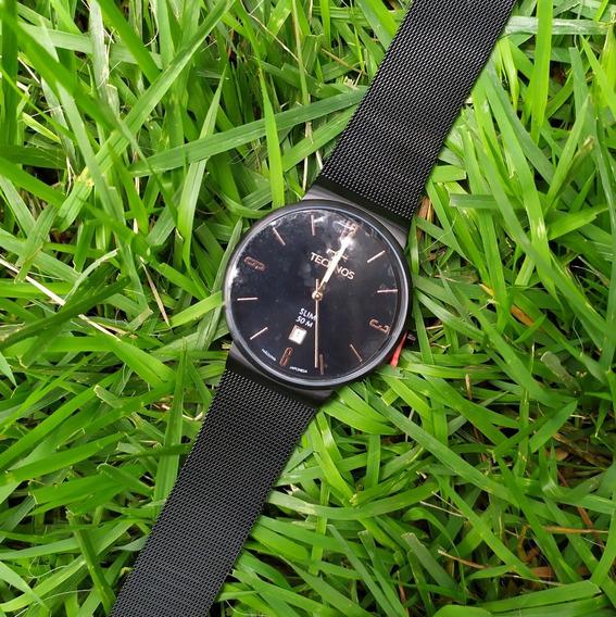 Relógio Masculino Technos Gm10yj C/nf Original Malha De Aço