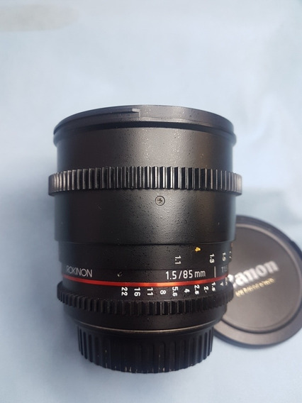 Rokinon 85mm 1,5 . Leia Descrição. No Estado. Para Canon.
