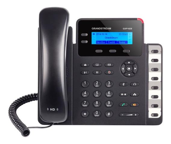 Telefone Ip 2 Contas Sip Gxp1628 Lcd Grandstream Poe Original Lacrado C/ Garantia